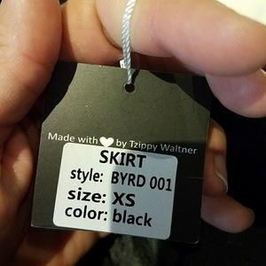 Nwt Byrd black puffer skirt